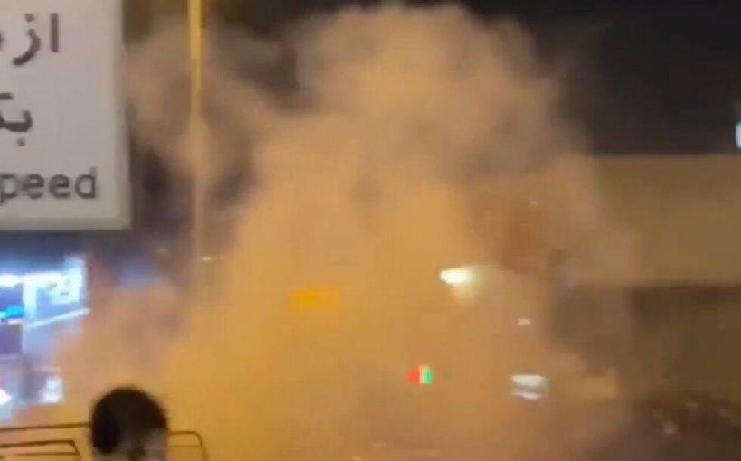 Полиция применила слезоточивый газ